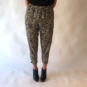 Forever 21 Leopard Print Pants with Pockets